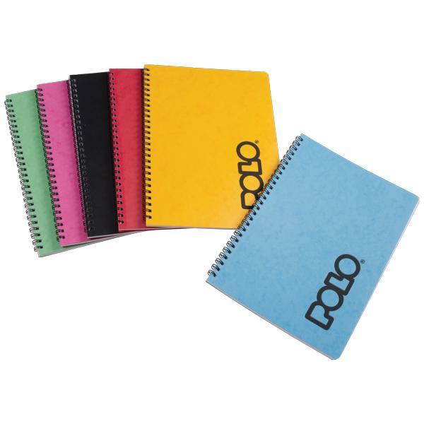 Σχολικά τετράδια σπιράλ POLO CLASSIC NOTE 4 Θέματα Α4 (6 χρώματα)