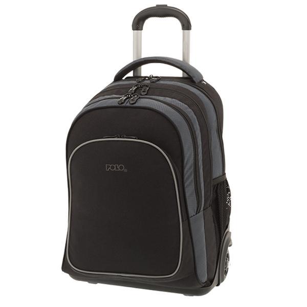 Σχολική τσάντα τρόλεϋ POLO COMPACT 901177-02 Μαύρη