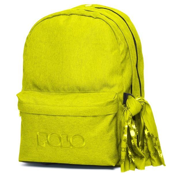 Σχολική τσάντα πλάτης POLO 2020 Double 9-01-235-27 Λαχανί