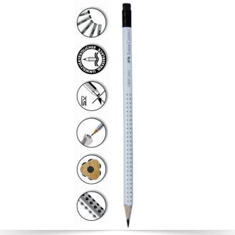 Μολύβι Faber Castell Grip 2001 λευκό HB με γόμα