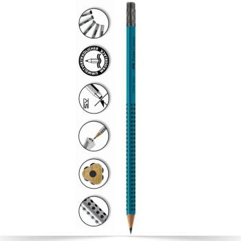 Μολύβι Faber Castell Grip 2001 πετρόλ HB με γόμα