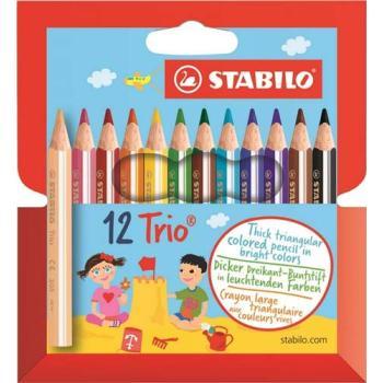 Ξυλομπογιές STABILO TRIO 205/12τεμ ΜΙΚΡΕΣ