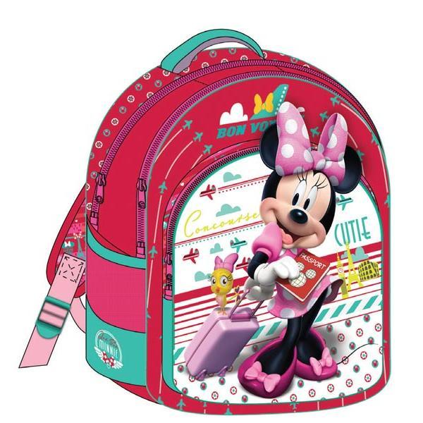 Σχολική τσάντα πλάτης MINNIE κόκκινη 3 θήκες 32x43x18cm