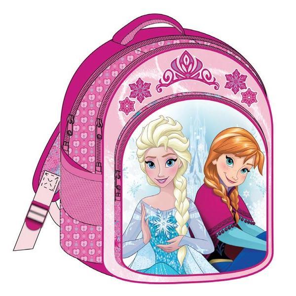 Σχολική τσάντα πλάτης FROZEN ροζ ANNA & ELSA με 3 θήκες 32x43x18cm 2016 Νο2