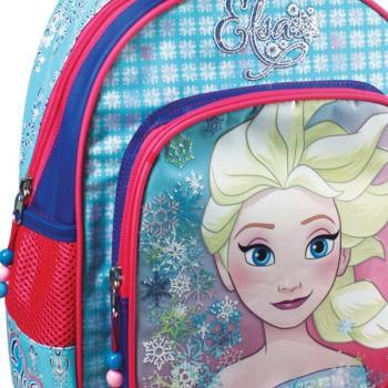 Σχολική τσάντα νηπίου τρόλεϋ FROZEN ANNA & ELSA με 2 θήκες 27x31x10cm 0561709
