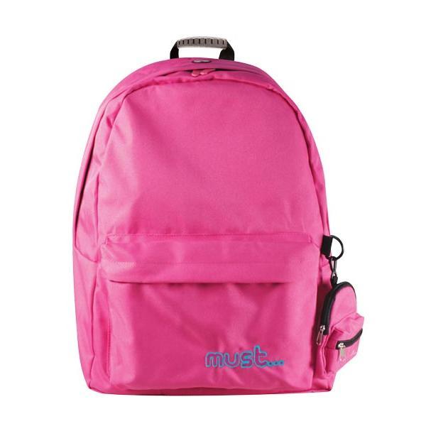 Σχολική τσάντα Πλάτης MUST φούξια 42x32x17cm 0579105