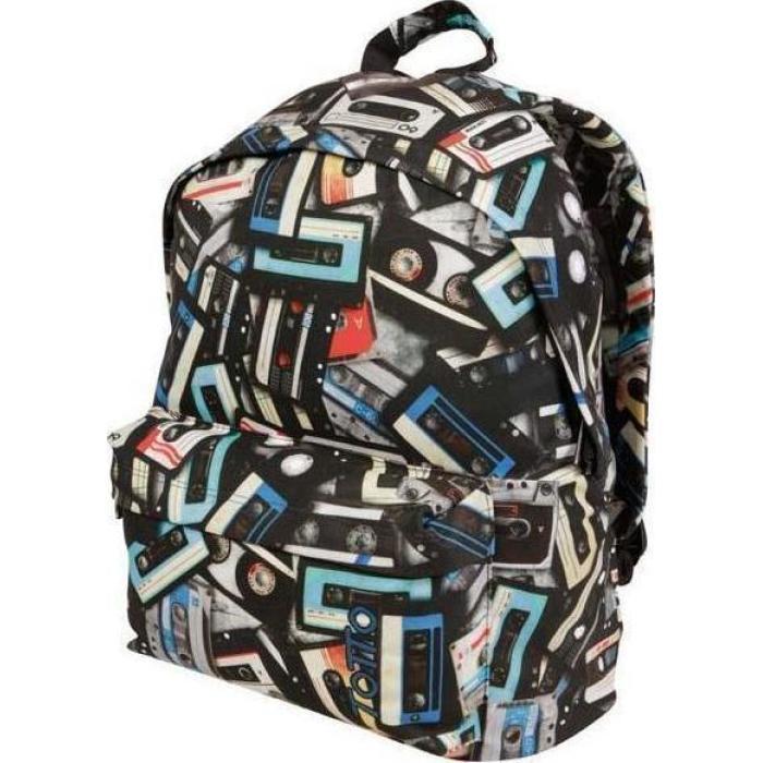 Σχολική τσάντα TOTTO Morral μαύρη με σχέδιο 32x40x13cm 4581310 ... f6b0a13e305