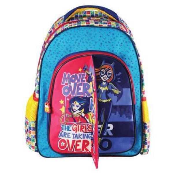 Σχολική τσάντα Δημοτικού SUPER HERO GIRLS με 3 θήκες 32x43x18cm 0504902