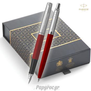 SET GIFTPACK PARKER Στυλό Διαρκείας & Πένα Jotter Original RED CT