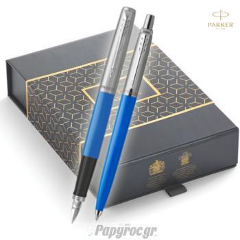 SET GIFTPACK PARKER Στυλό Διαρκείας & Πένα Jotter Original BLUE CT