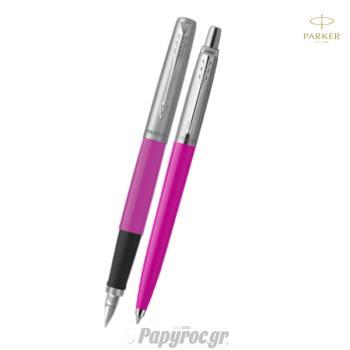 SET GIFTPACK PARKER Στυλό Διαρκείας & Πένα Jotter Original PINK CT