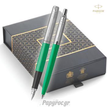 SET GIFTPACK PARKER Στυλό Διαρκείας & Πένα Jotter Original GREEN CT