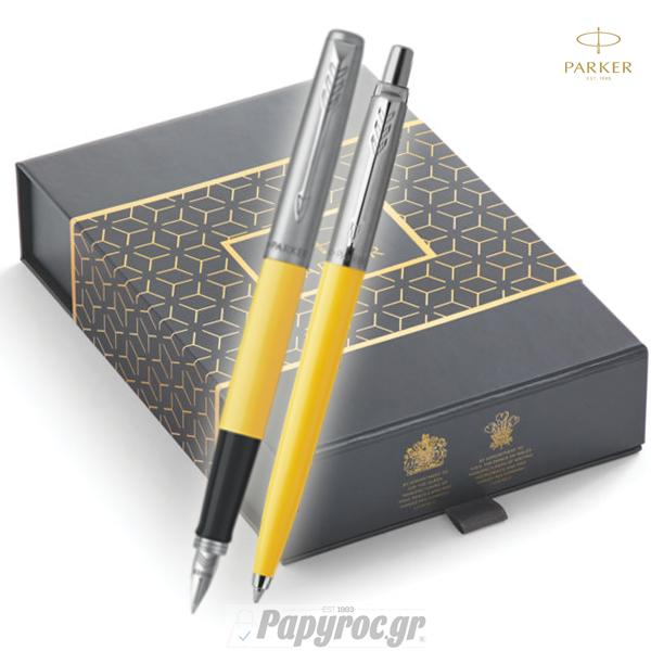 SET GIFTPACK PARKER Στυλό Διαρκείας & Πένα Jotter Original YELLOW CT