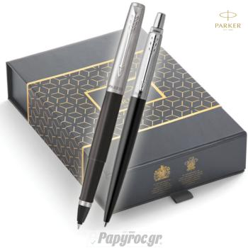 SET GIFTPACK PARKER Στυλό Διαρκείας & Roller Ball Jotter STREET BLACK CT