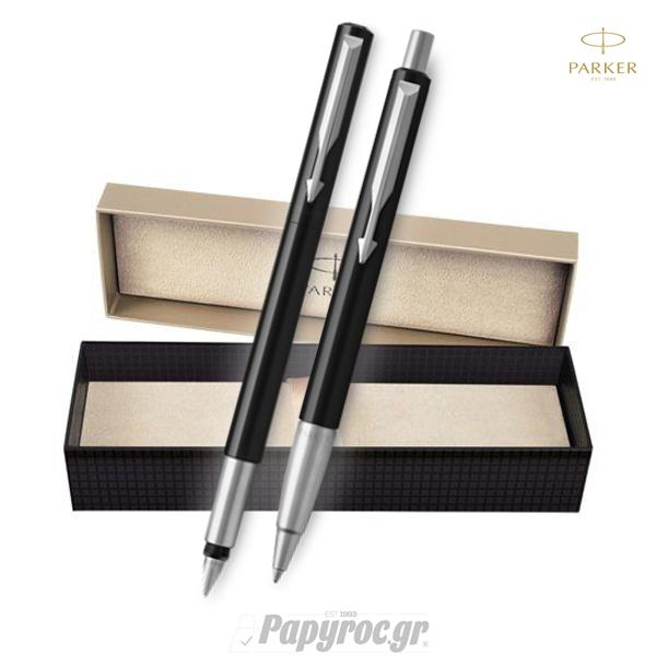 SET GIFTPACK PARKER Πένα & Στυλό Διαρκείας VECTOR STANDARD BLACK CT