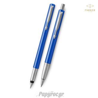 SET GIFTPACK PARKER Πένα & Στυλό Διαρκείας VECTOR STANDARD BLUE CT
