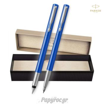 SET GIFTPACK PARKER Πένα & Roller Ball VECTOR STANDARD BLUE CT