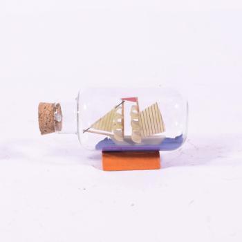 Vintage Διακοσμητικό Καράβι σε Μπουκαλάκι 5.5cm