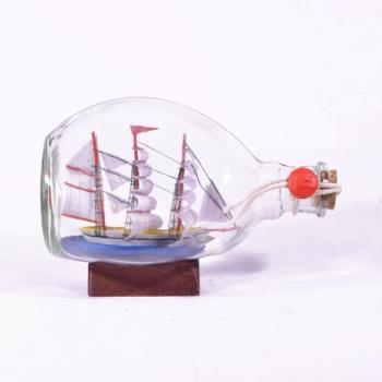 Vintage Διακοσμητικό Καράβι σε Μπουκαλάκι 17.0cm