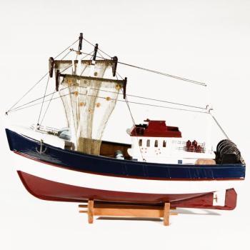 Vintage ξύλινο διακοσμητικό Καϊκι μεγάλων διαστάσεων 45.0 cm X 37.0 cm