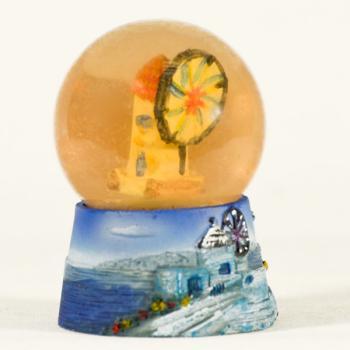 Πήλινη γυάλα Τουριστική MYKONOS 10.0 cm