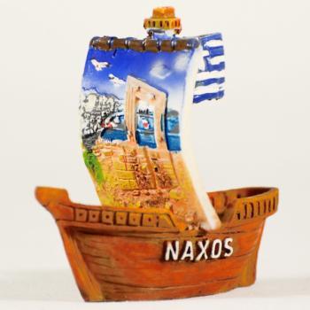 Βαρκάκι πήλινο Τουριστικό NAXOS 6.0 cm