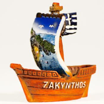 Βαρκάκι πήλινο Τουριστικό ZAKYNTHOS 6.0 cm