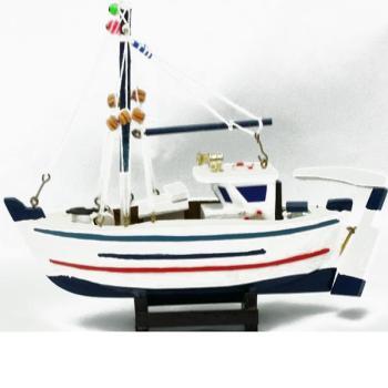 Ξύλινη βάρκα καϊκι 20cmX14cm