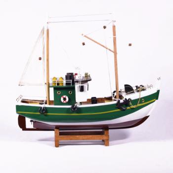 Vintage ξύλινο διακοσμητικό Καίκι μεγάλων διαστάσεων 32.0cm