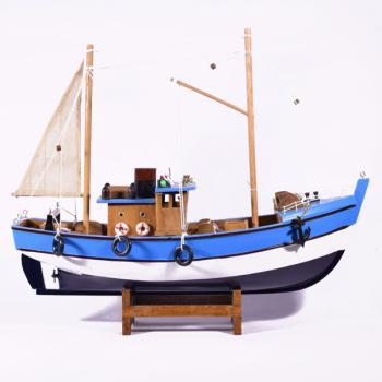 Vintage ξύλινο διακοσμητικό Καίκι μεγάλων διαστάσεων 40.0cm