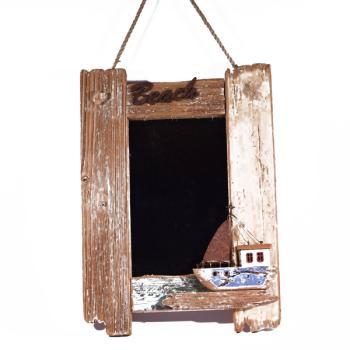 Vintage Διακοσμητικό Καθρέπτης Καράβι 39.5cm