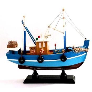 Ξύλινη βάρκα καϊκι 20cmX17cm