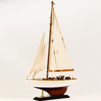 Ξύλινο Καράβι Ιστιοφόρο με πανιά 30cmX40cm