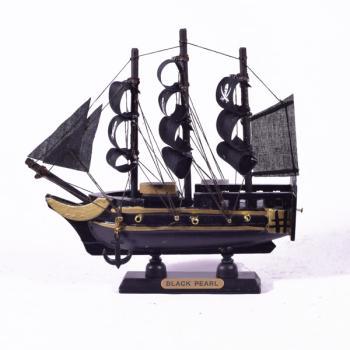 Vintage ξύλινο διακοσμητικό Πειρατικό Καράβι 16.0 cm