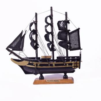 Vintage ξύλινο διακοσμητικό Πειρατικό Καράβι 20.0 cm