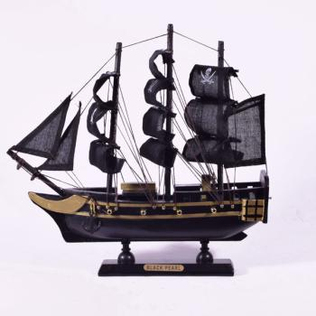 Vintage ξύλινο διακοσμητικό Πειρατικό Καράβι 24.0 cm