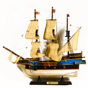 Ξύλινο Καράβι με πανιά MAYFLOWER 40cmX36cm