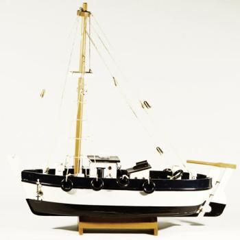 Ξύλινη βάρκα καϊκι 43cmX39cm