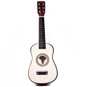 Ξύλινη κιθάρα για παιδιά σε μπεζ χρώμα 59.0 cm