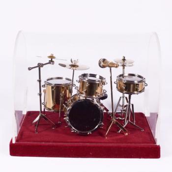 Μεταλλικό διακοσμητικό - Ντραμς με κουτί έκθεσης 18.0cm