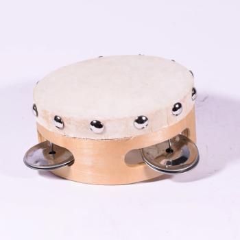 Ξύλινο ντέφι σε μπεζ χρώμα 10.5 cm