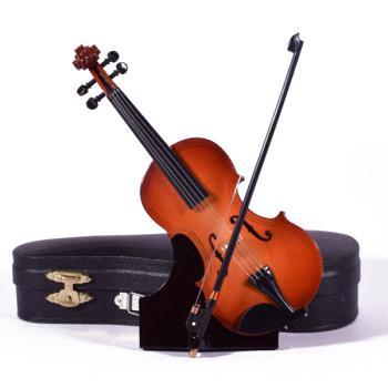 Ξύλινο διακοσμητικό - Βιολί με βάση και κουτί 15.0cm
