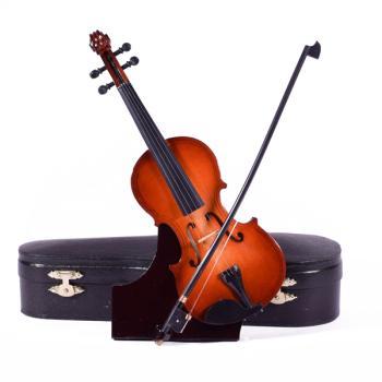 Ξύλινο διακοσμητικό - Βιολί με βάση και κουτί 23.0cm