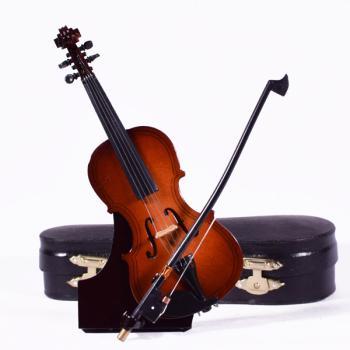 Ξύλινο διακοσμητικό - Βιολί με βάση και κουτί 18.0cm