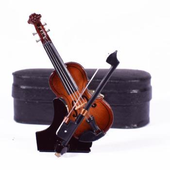 Ξύλινο διακοσμητικό - Βιολί με βάση και κουτί 7.0cm