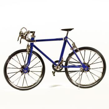 Vintage Διακοσμητικό μεταλλική μινιατούρα - Μεταλλικό Αθλητικό Ποδήλατο Μπλε 20.0 cm