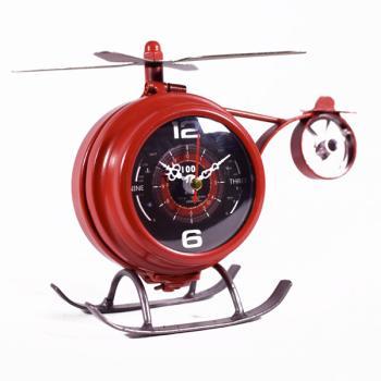 Vintage Διακοσμητικό Επιτραπέζιο Ρολόι Ελικόπτερο 18.0cm