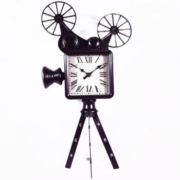 Vintage Διακοσμητικό Ρολόι Κινηματογραφική Κάμερα 50.0cm