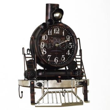 Vintage Διακοσμητικό Ρολόι Τοίχου Τρένο 48.0cm