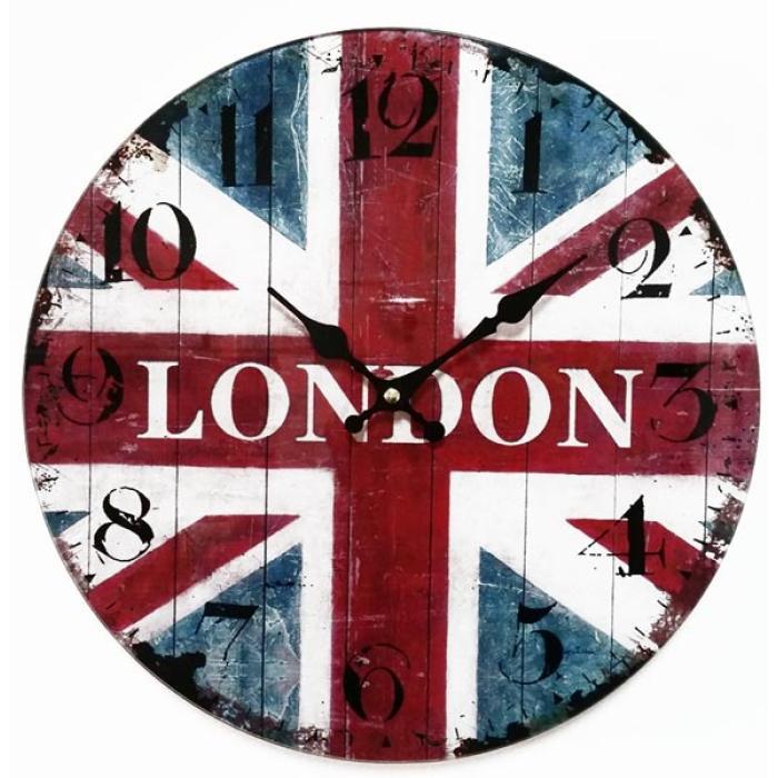 Ρολόϊ τοίχου γυαλί LONDON 30.0 cm